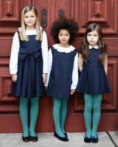 Oscar de la renta childrenswear trunkshow look 13 on moda operandi school fashion, kids fashion Fashion Kids, Little Girl Fashion, School Uniform Fashion, School Uniform Girls, Girls School, Kids Girls, Girl Cap, Kids Uniforms, Moda Kids