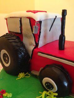 Traktor kuchen fondant