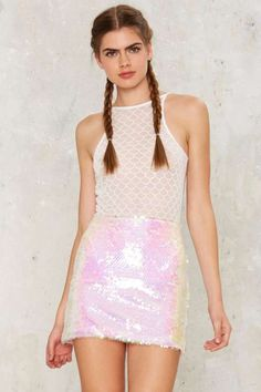 Jaded London Mermaid Sequin Skirt