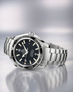 OMEGA Watches: Seamaster Planet Ocean - Steel on steel - Omega Seamaster 300, Omega Seamaster Planet Ocean, Omega Seamaster Automatic, Omega Speedmaster, Best Watches For Men, Fine Watches, Sport Watches, Cool Watches, Omega James Bond