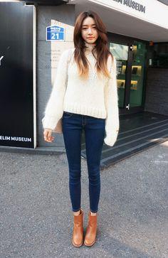 [Stylenanda] Blue Basic Jeans