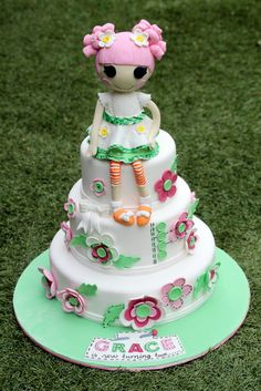 Very fun cake at a Lalaloopsy party!  See more party ideas at CatchMyParty.com!