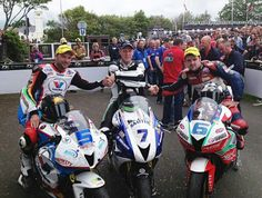 Gary Johnson Bruce Anstey Michael Dunlop podium supersport TT 2014