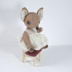 Little Teddy Fox Maya Artist Teddy Fox OOAK Handmade от LozArts