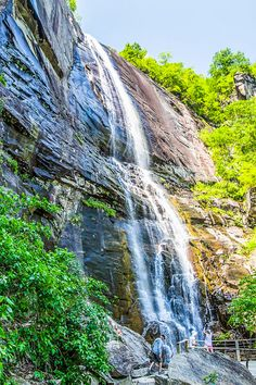 """When you visit Chimney Rock State Park in North Carolina, don't miss hiking the trail to Hickory Nut Falls, made famous by the fight scene in the movie """"The Last of the Mohicans"""" #NorthCarolina #travel"""