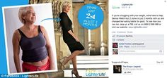 Online: The disputed adverts appeared on the Facebook page for slimming firm LighterLife