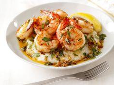 Get Lemon-Garlic Shrimp and Grits Recipe from Food Network