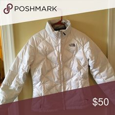 North face bubble jacket White north face winter coat. Only worn once The North Face Jackets & Coats Puffers