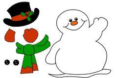Fise de lucru si planse de colorat pentru Craciun: IMAGINE cu Om de Zapada pentru copii / Om de Zapada pentru decorat clasa / Om de Zapada pentru decupat