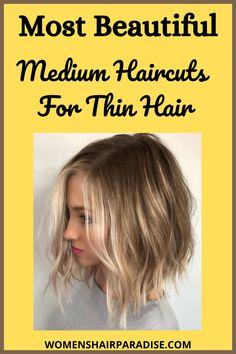Here are some of the best hairstyles for women with thin fine hair. Short bob cuts,pixie to layered medium haircuts. #hairstylesforthinhairover50, #shorthairstylesforthinhair #hairstylesforthinhairfine #thinhairstyles #thinhairstylesmedium #thinhairstylesfine
