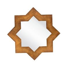 Levan Wall Mirror (€250) ❤ liked on Polyvore featuring home, home decor, mirrors, medium gold, geometric mirror, star home decor, geometric home decor, surya and geometric wall mirror