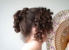 Vintage Hairstyles Tutorial Regency hairstyle tutorial - This is a tutorial for a regency hairstyle that was inspired by Elizabeth Bennet's hair in the 1995 Pride and Prejudice BBC mini series. Step one ~ Part the front section … 1800s Hairstyles, Historical Hairstyles, Ball Hairstyles, Victorian Hairstyles, Trending Hairstyles, Romantic Hairstyles, School Hairstyles, Beautiful Hairstyles, Hairdos
