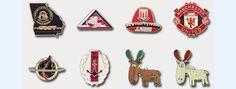 Synthetic enamel pin badges