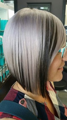 Hair By Lisa A steel grey and Lavender combo. Schwarzkopf Professional