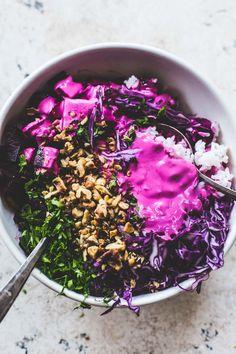 Super Pink Roasted Beet & Rice Salad // #vegetarianbeetsalad