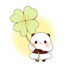 Chibi being lucky Cute Panda Wallpaper, Cute Disney Wallpaper, Panda Wallpapers, Cute Wallpapers, Kawaii Drawings, Easy Drawings, Panda Funny, Chibi Cat, Panda Art