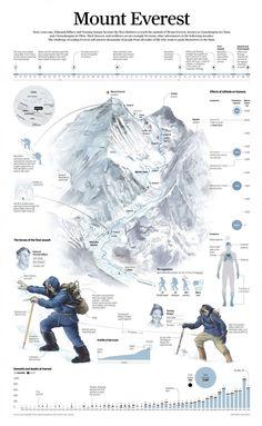 Educational infographic & Data The allure of climbing Mount Everest. Image Description The allure of climbing Mount Everest. Monte Everest, Ice Climbing, Mountain Climbing, Climbing Tools, Alpine Climbing, Zhangjiajie, Tibet, Everest Vbs, Rock Climbing
