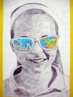 Shades of summer- The Calvert Canvas: Adventures in Middle School Art!
