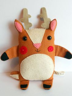 """Litter Deer Handmade Softie: George"" by littlethee $21.16"