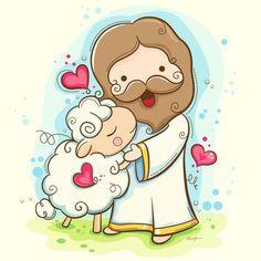 Lord Is My Shepherd Framed Art Print by Hi-deer - Vector Red - Jesus Cartoon, Bible Cartoon, Deer Vector, Framed Art Prints, Canvas Prints, Canvas Art, La Sainte Bible, Lord Is My Shepherd, Iphone Skins