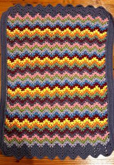 ripple v stitch baby blanket V Stitch, Blanket, Crochet, Baby, Ganchillo, Blankets, Baby Humor, Cover, Crocheting