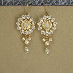 Starlight Bride Earrings Bridal Pearl by StarlightWeddings on Etsy ...