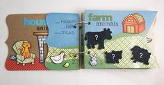 My paper journey: My little book of animals - Lawn Fawn & Punky Sprouts mini album