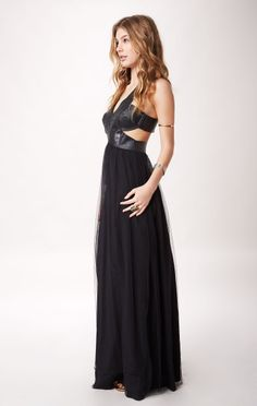 ALLIGATOR MAXI TULLE DRESS