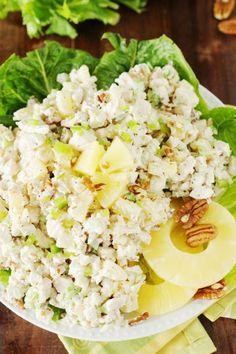 Pineapple-Pecan Chicken Salad is a refreshingly wonderful flavor combination. E… Pineapple-Pecan Chicken Salad is a refreshingly wonderful flavor combination. Enjoy it in sandwiches or on its own! Protein Packed Snacks, Healthy Protein Snacks, Healthy Recipes, Pecan Chicken Salads, Chicken Salad Recipes, Sandwiches, Pineapple Chicken, Pineapple Salad, Main Dish Salads
