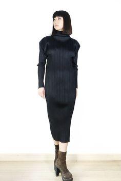 Issey Miyake Pleats Please Turtleneck Dress Sz 2