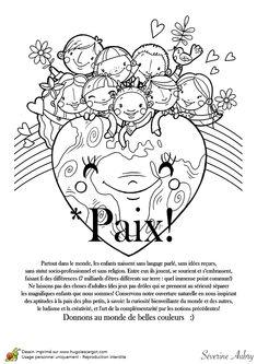 Coloriage sur le thème de la paix - Hugolescargot.com