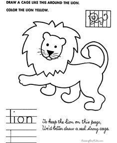 Simple drawings for kids - How to draw lion