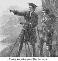 Young George Washington, surveyor
