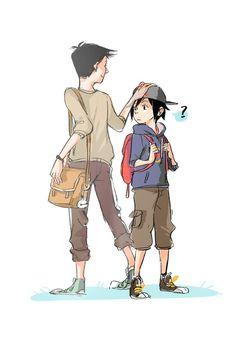 Hey, knucklehead.>>>> I love how Tadashi calls Hiro knucklehead!