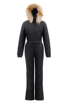 Buy Poivre Blanc Women's Stretch Faux Fur One Piece Overall, Black - Snow+Rock