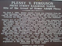 plessy v ferguson this landmark supreme court decision  1896 plessy v ferguson this landmark supreme court decision holds that racial segregation is constitutional paving the way for the repressive ji