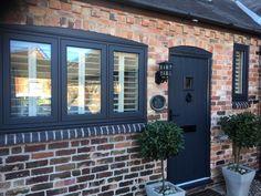 Anthracite grey @residence9 R7 flush casement double glazed windows. Installed in Gamston, Nottingham.   #R7 #DoubleGlazing