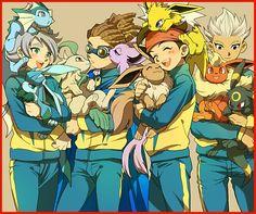 Lookie at Kidou n his pokemon Crossover, Jude Sharp, Umbreon And Espeon, Eevee Evolutions, Litle Boy, Evans, Inazuma Eleven Go, Mlp My Little Pony, My Pokemon