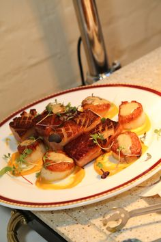 Grilled Sea Scallops and Pork Belly - YUM!!!