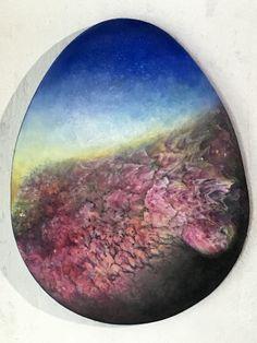 43cm, pigment und öl auf Holz #IstvanSeidel Egg Shape, Artist At Work, Shapes, Celestial, Outdoor, Light Art, Outdoors, Outdoor Games, The Great Outdoors