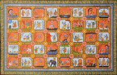Life of Shri Krishna, Folk Art Watercolor on PattiArtist: Rabi Behera Pichwai Paintings, Indian Paintings, Shiva Wallpaper, Indian Art, Krishna, Folk Art, Art Deco, Hand Painted, Watercolor