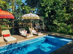 Gloria bamboo) arriving in June Pool Umbrellas, Parasol Base, Garden Parasols, Leopard Prints, Gold Paint, Garden Inspiration, Garden Furniture, Exterior Design, Sun Lounger