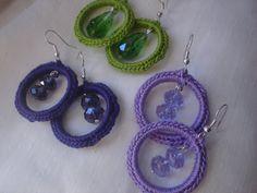 Crochetboucles d'oreilles boucles d'oreilles par TextileArtNajLee, €12.00