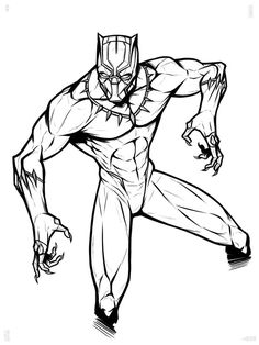 Black Panther Coloring Pages   Superhero coloring pages ...