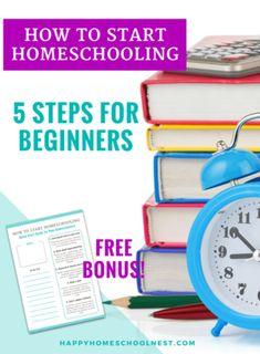 How to start homeschooling: Happy Homeschool Nest ~ Balancing Home How To Start Homeschooling, Homeschool High School, Homeschool Curriculum, Homeschooling Resources, Tot School, Little Bit, Home Schooling, Get Started, Household