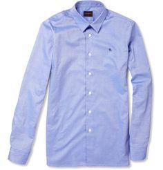 raf simons 1995 monogrammed cotton-chambray shirt