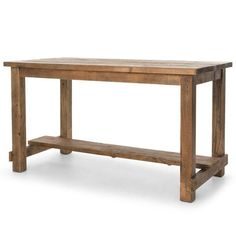 Lundin Rustic Lodge Reclaimed Bleached Pine Dining Bar Table ($3,238) ❤  Liked On Polyvore Featuring Home, Furniture, Tables, Dining Tables, Bar Top  Tables, ...