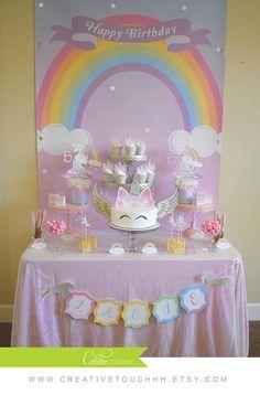 Festa di compleanno di unicorno Unicorn Cake Topper Unicorn