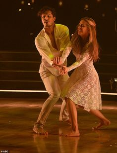 Contemporary dance:Chrishell Stause, 39, and Gleb Savchenko paid tribute to her parents, both of whom recently died of lung cancer, with a contemporary dance to Stars by Grace Potter and the Nocturnals