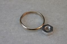 Gold Filled Ring with Sterling Silver Nut
